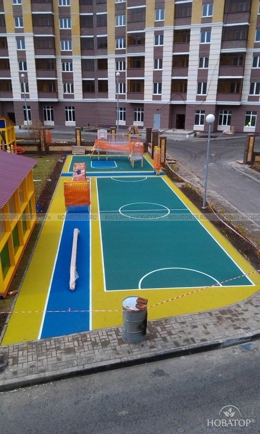 Резиновое покрытие для детских и спортивных площадок, м2