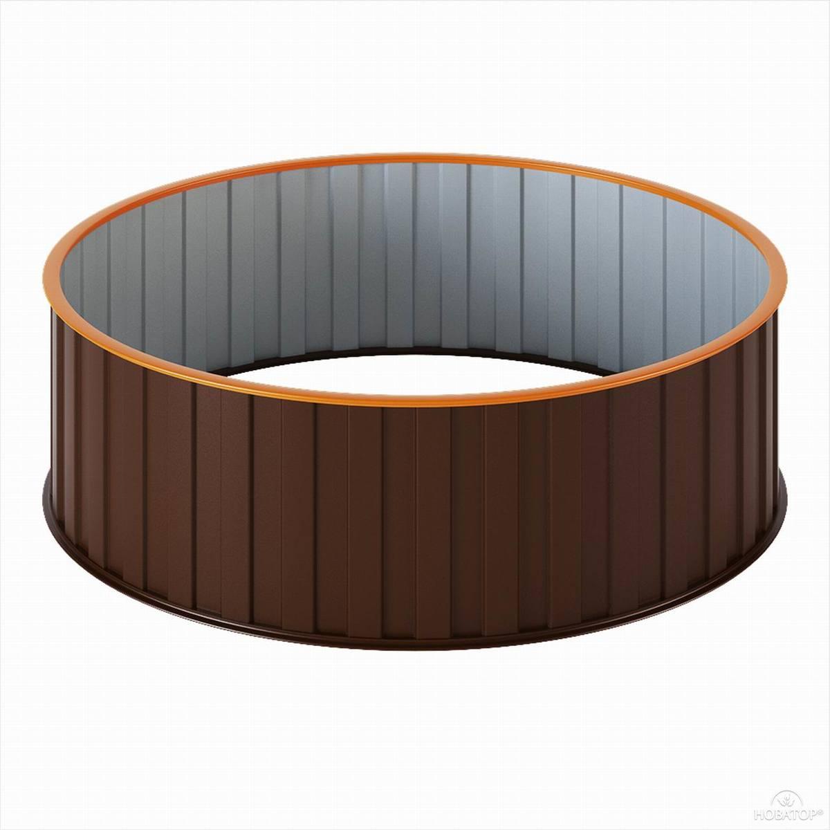 Грядка металлическая диаметром 1,0 м