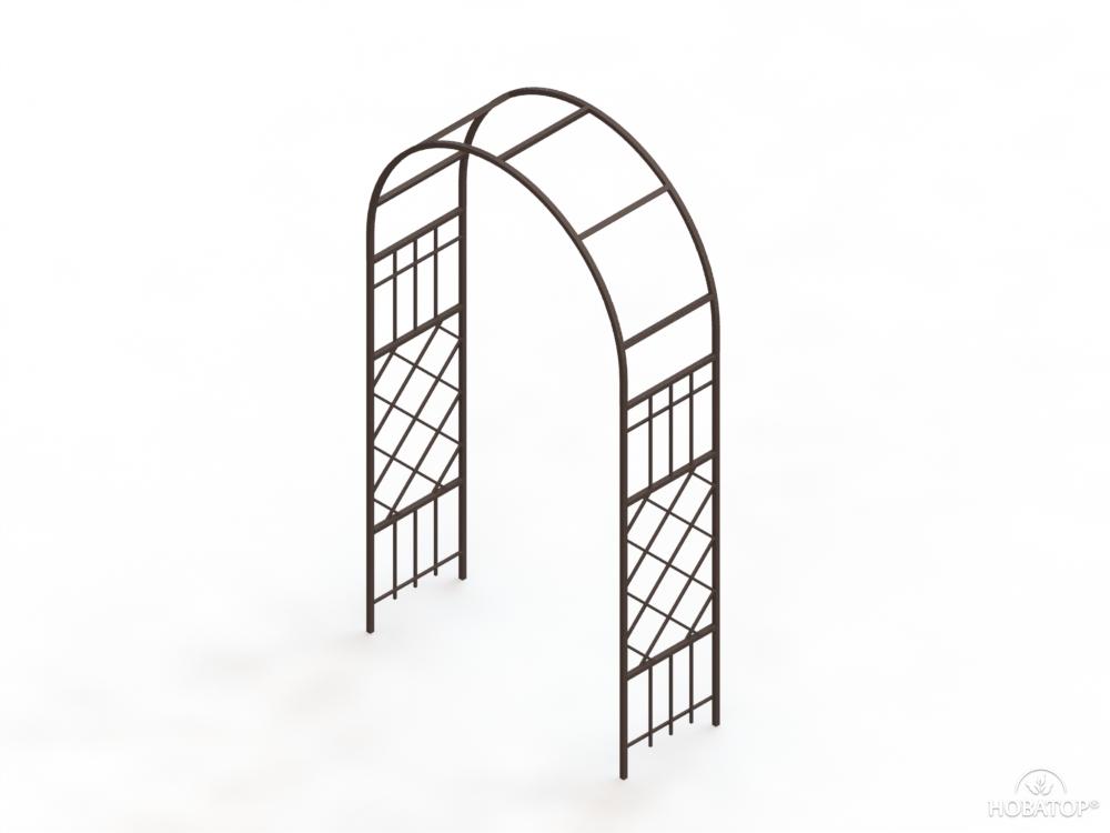 Арка садовая металлическая простая