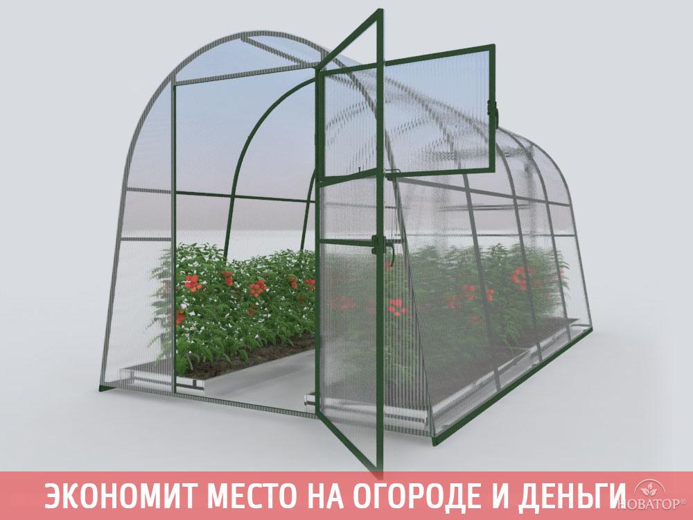 Теплица «Позимь» с поликарбонатом «Премиум» 4 мм