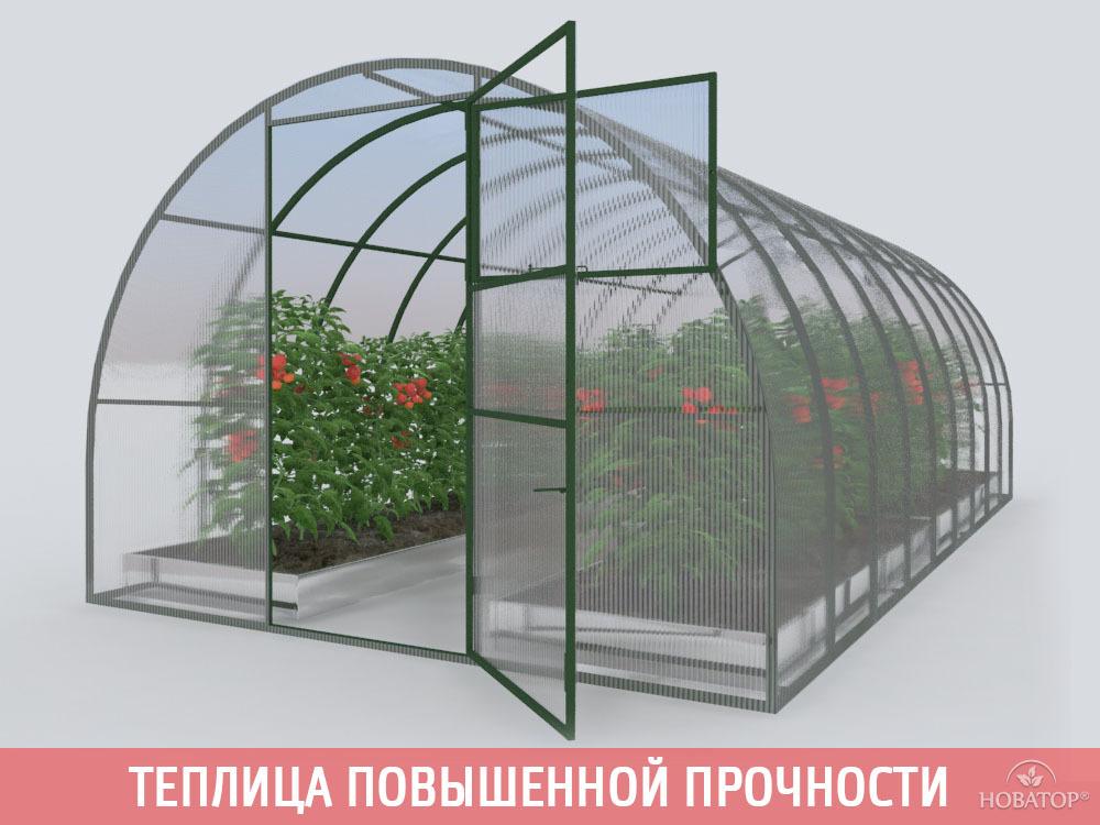 Теплица «Новатор-Премиум» с поликарбонатом «Премиум» 4 мм